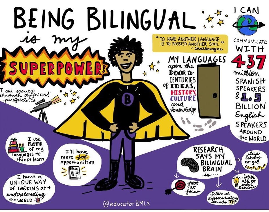 Being bilingual is my superpower!